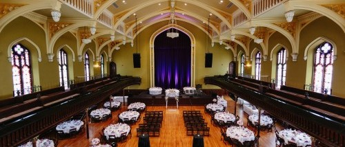 Weddings babeville buffalo asbury hall offers a unique location for your wedding the room features hardwood floors rich color tones and architectural details that add to the junglespirit Image collections