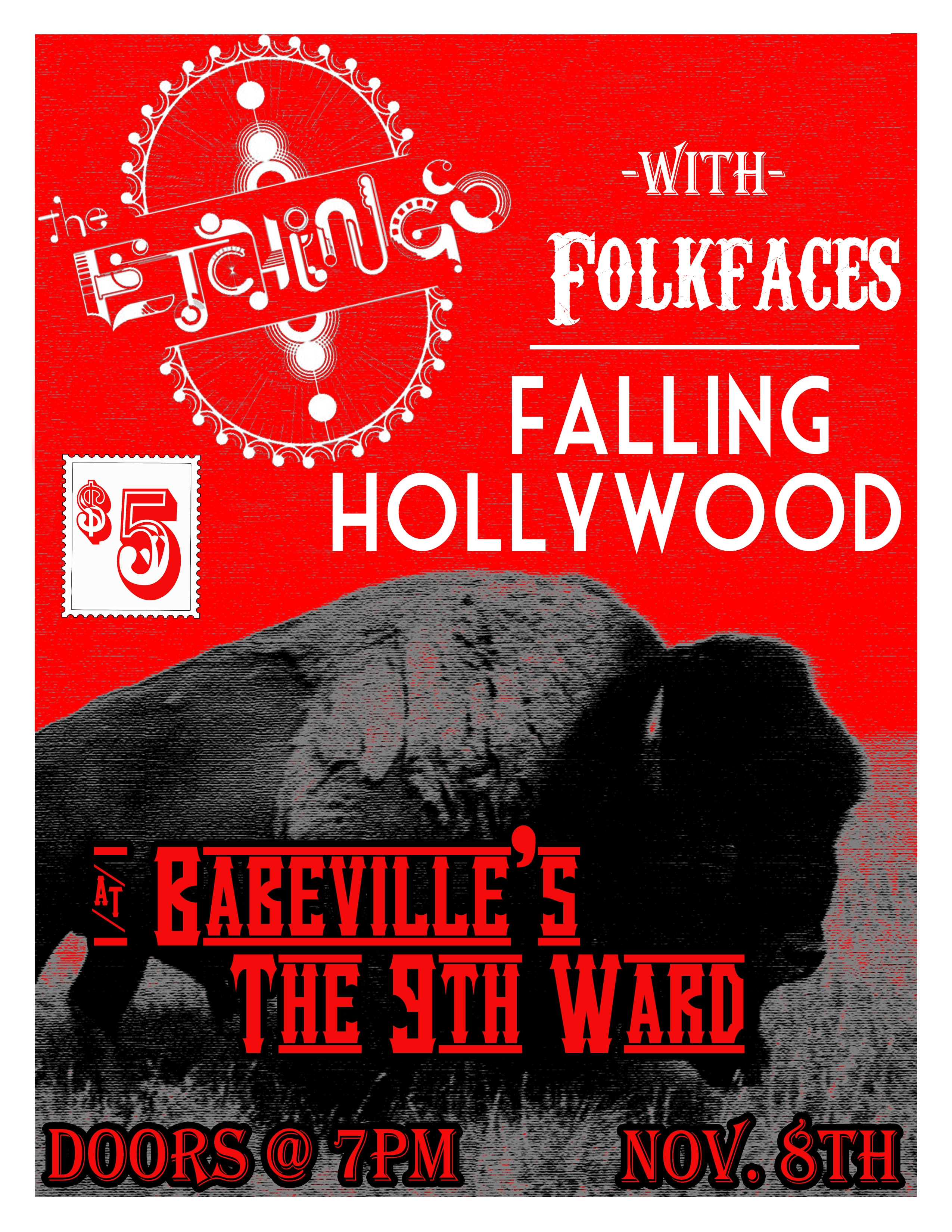 The Etchings with Falling Hollywood and Folkfaces