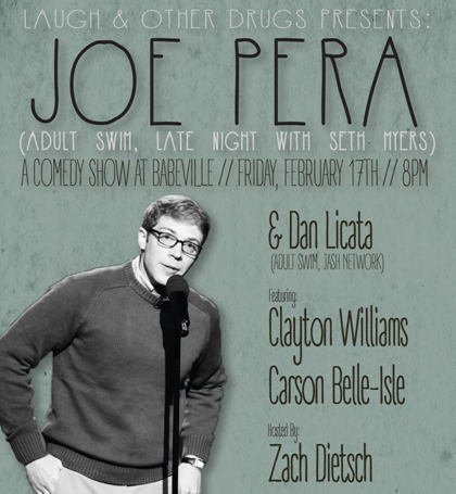 Laugh & Other Drugs presents Joe Pera SOLD OUT