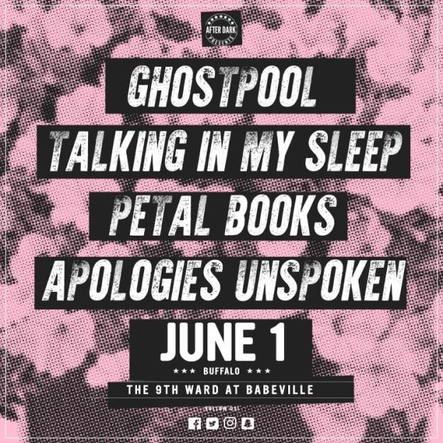 Ghostpool, Talking In My Sleep, Petal Books and Apologies Unspoken