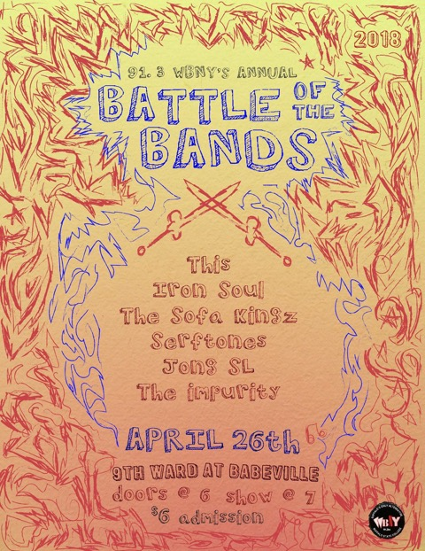 91.3 WBNY's Annual Battle of the Bands