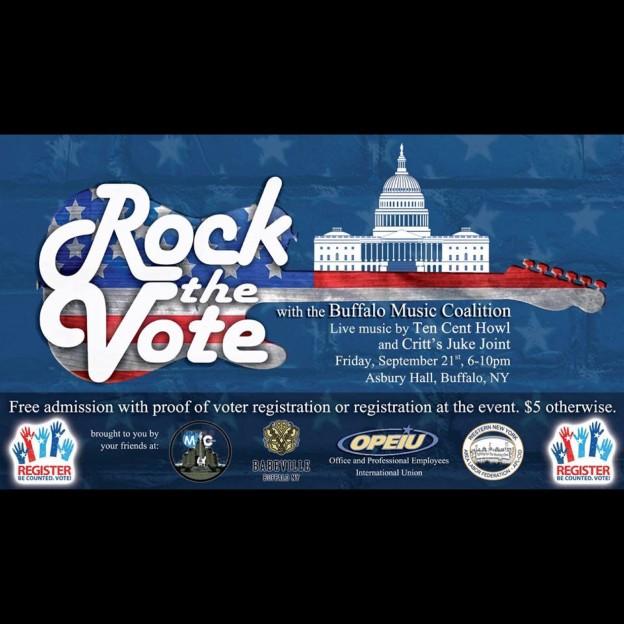 "Buffalo MC presents ""Rock the Vote"" Registration Party"