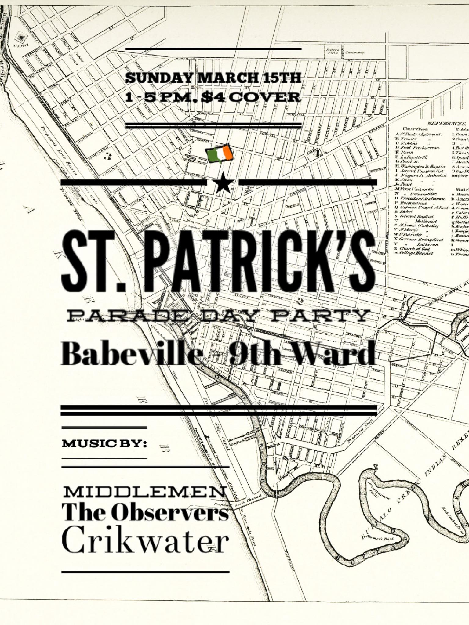 *CANCELED* St Patrick's Day Parade with Crikwater, The Observers, and Middlemen