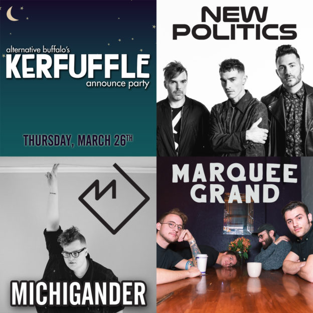 *CANCELED* KERFUFFLE 20-20 ANNOUNCE PARTY: New Politics, Michigander & Marquee Grand