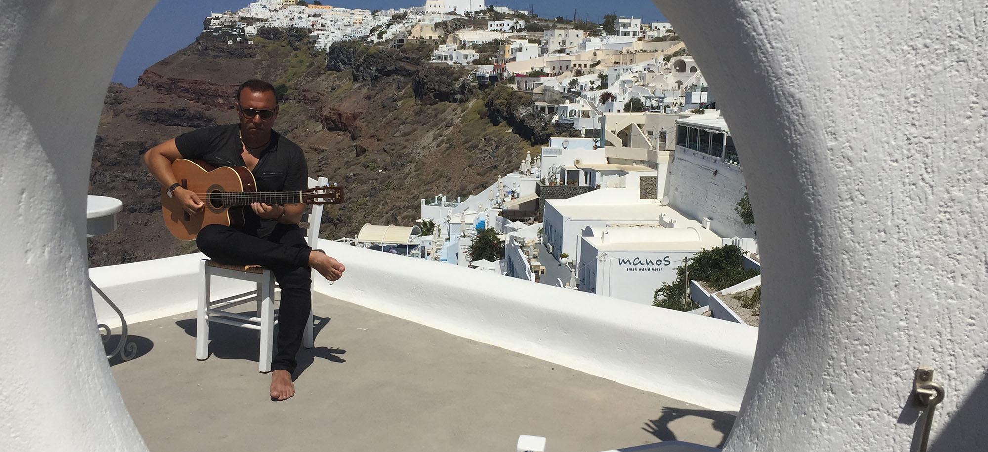 Pavlo: Behind the Scenes from Santorini